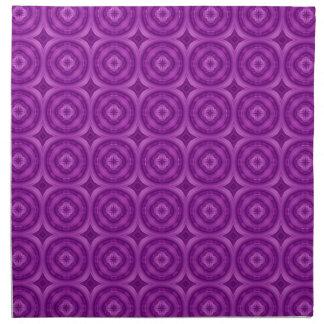 Modelo abstracto púrpura servilleta