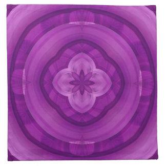 Modelo abstracto púrpura servilleta de papel