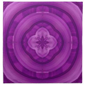 Modelo abstracto púrpura servilletas
