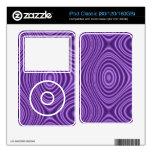 modelo abstracto púrpura calcomanías para iPod classic