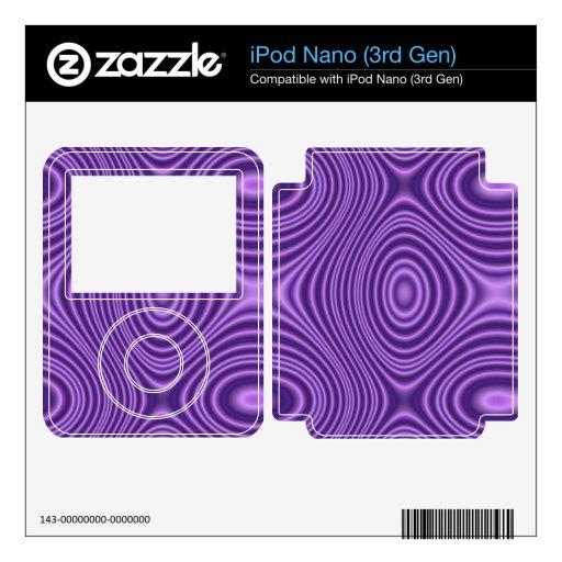 modelo abstracto púrpura calcomanías para el iPod nano