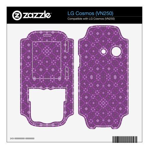 Modelo abstracto púrpura calcomanías para LG cosmos