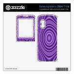 modelo abstracto púrpura samsung gravity calcomanía