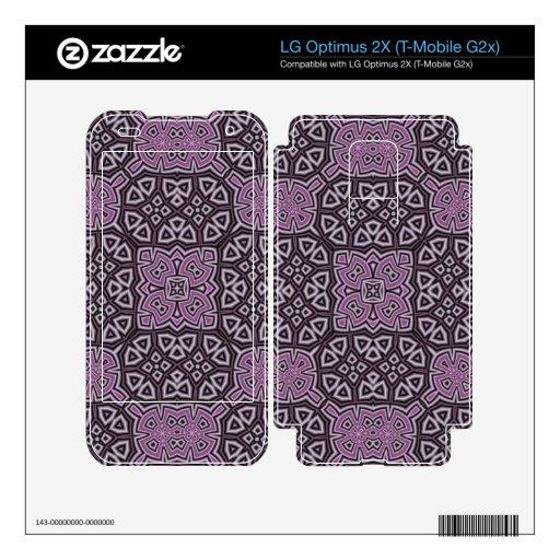 Modelo abstracto púrpura calcomanía para LG optimus 2X