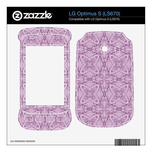 Modelo abstracto púrpura skin para el LG optimus s