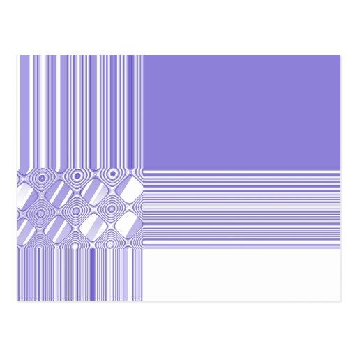 Modelo abstracto púrpura y blanco postal