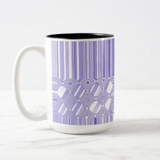Modelo abstracto púrpura y blanco taza de café