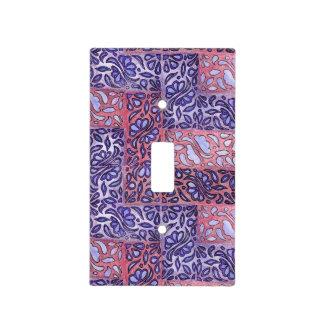 Modelo abstracto púrpura y rosado cubiertas para interruptor