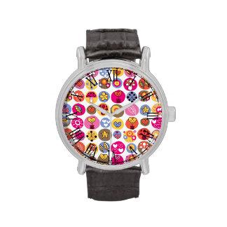 Modelo abstracto retro de moda enrrollado relojes