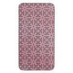 Modelo abstracto retro de moda enrrollado rosado funda acolchada para móvil