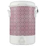 Modelo abstracto retro de moda enrrollado rosado vaso enfriador igloo