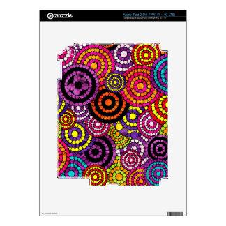 Modelo abstracto retro del arco iris pegatina skin para iPad 3