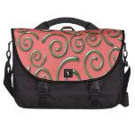 Modelo abstracto retro hermoso bolsas para portátil