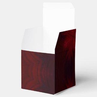 Modelo abstracto rojo cajas para detalles de boda