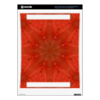 Modelo abstracto rojo consola xbox 360 skin