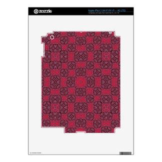 Modelo abstracto rojo de moda iPad 3 pegatina skin