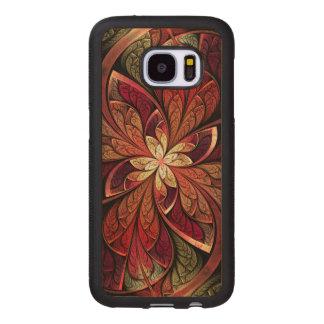 Modelo abstracto rojo del colorete de Chanteuse Fundas De Madera Para Samsung S7