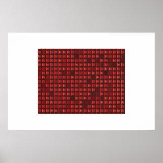 modelo abstracto rojo del tronco (pirámide con las posters