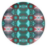 modelo abstracto rojo del trullo platos