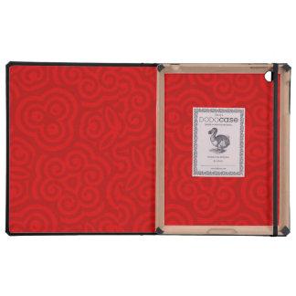 Modelo abstracto rojo iPad protector