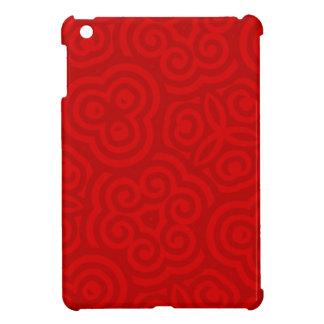 Modelo abstracto rojo iPad mini protectores