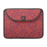 Modelo abstracto rojo funda macbook pro