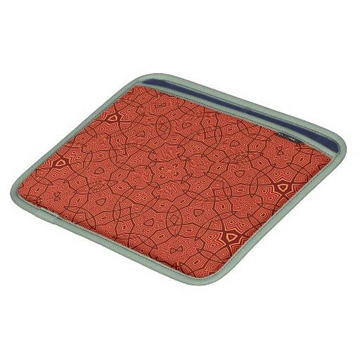 Modelo abstracto rojo funda para iPads