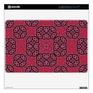Modelo abstracto rojo geométrico MacBook air skin