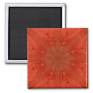 Modelo abstracto rojo imán cuadrado