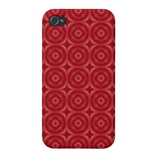 Modelo abstracto rojo iPhone 4 cárcasa