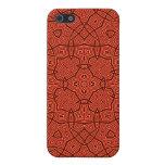 Modelo abstracto rojo iPhone 5 cárcasa