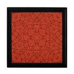 Modelo abstracto rojo caja de regalo cuadrada grande