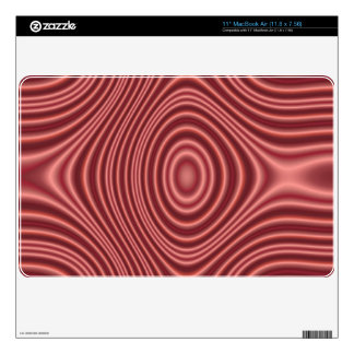 Modelo abstracto rojo MacBook calcomanías