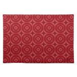Modelo abstracto rojo mantel