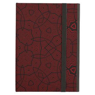 Modelo abstracto rojo oscuro