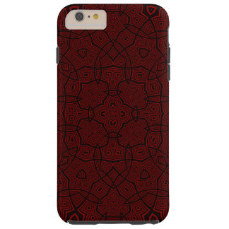 Modelo abstracto rojo oscuro funda resistente iPhone 6 plus