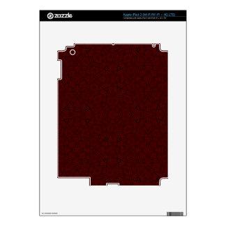 Modelo abstracto rojo pegatinas skins para iPad 3