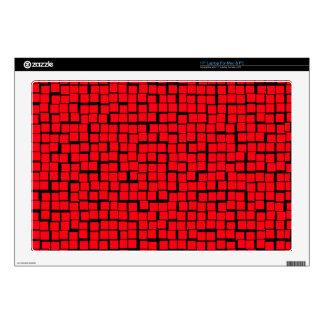 Modelo abstracto rojo portátil 43,2cm skin
