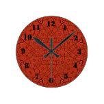 Modelo abstracto rojo relojes
