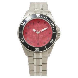 Modelo abstracto rojo relojes de pulsera