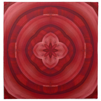 Modelo abstracto rojo servilletas
