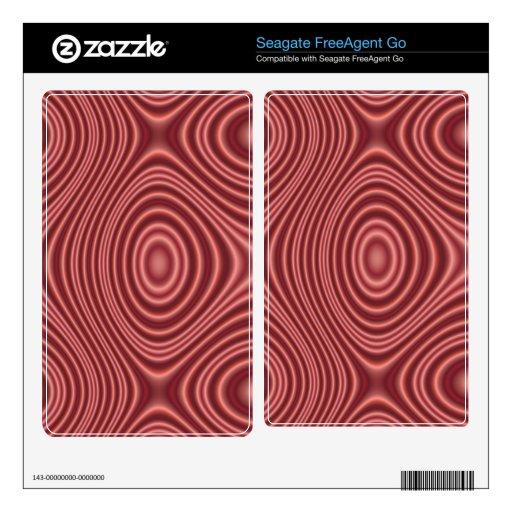 Modelo abstracto rojo skin para el FreeAgent go