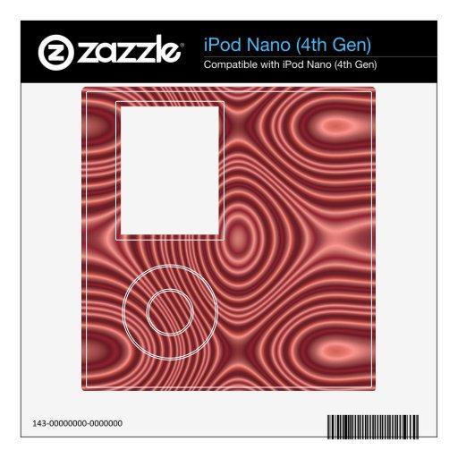 Modelo abstracto rojo skins para eliPod nano