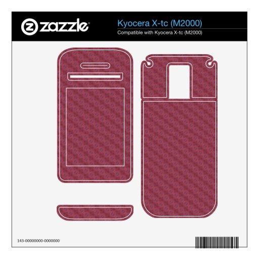 Modelo abstracto rojo skins para kyocera x-tc