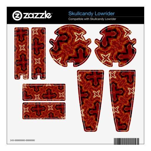 Modelo abstracto rojo skullcandy skins