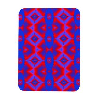 modelo abstracto rojo y azul brillante imanes flexibles
