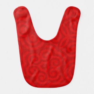 Modelo abstracto rojo baberos
