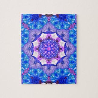 Modelo abstracto rosado azul brillante puzzle