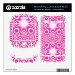 Modelo abstracto rosado BlackBerry curve skins