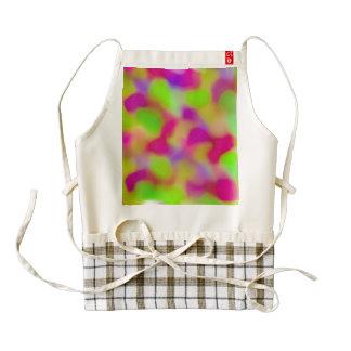 Modelo abstracto rosado colorido de las acuarelas delantal zazzle HEART